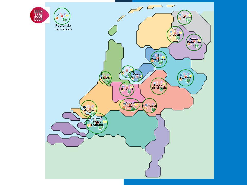 Eemshaven Regionale netwerken. Assen. Veen. Koloniën. Overijssel. Almere. Zee- Wolde. Twente.