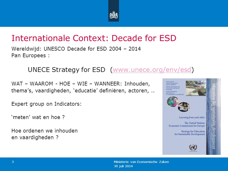 Internationale Context: Decade for ESD