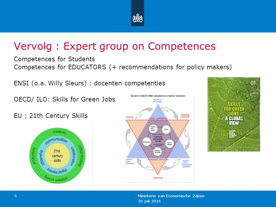 Vervolg : Expert group on Competences