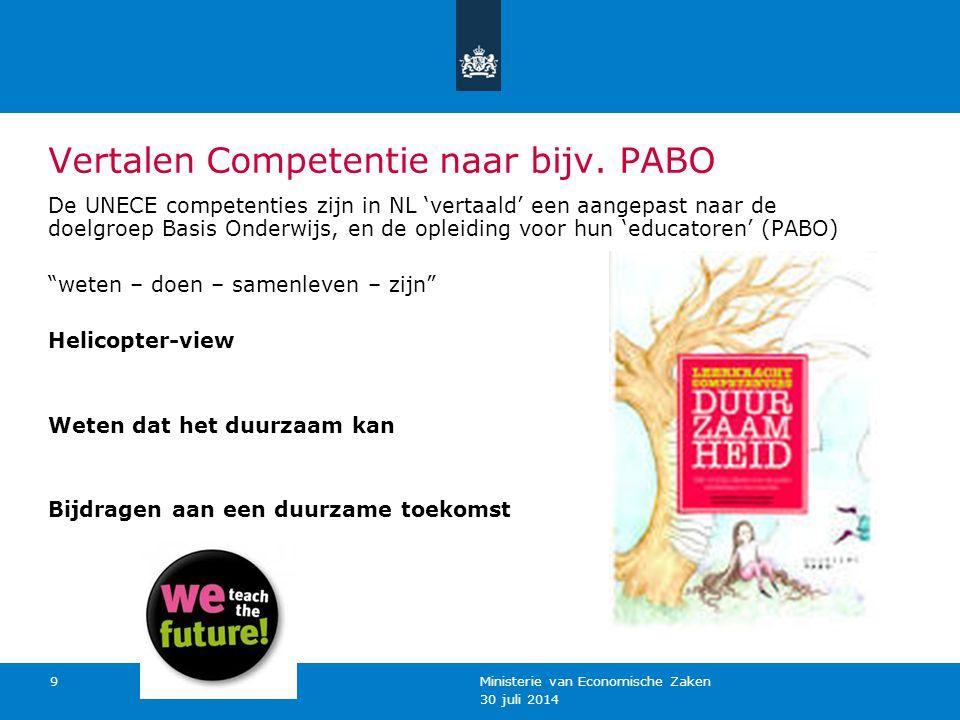 Vertalen Competentie naar bijv. PABO