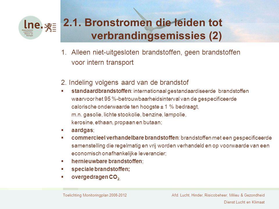 2.1. Bronstromen die leiden tot verbrandingsemissies (2)