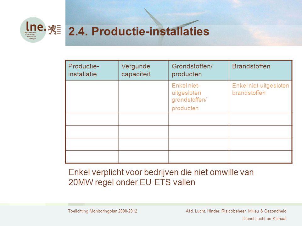 2.4. Productie-installaties