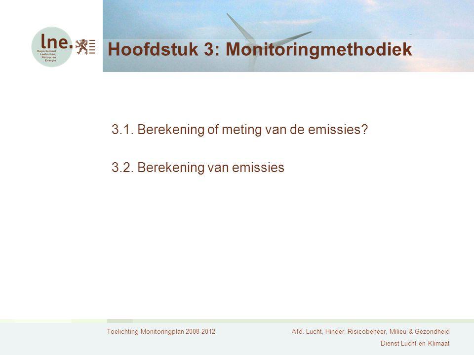 Hoofdstuk 3: Monitoringmethodiek
