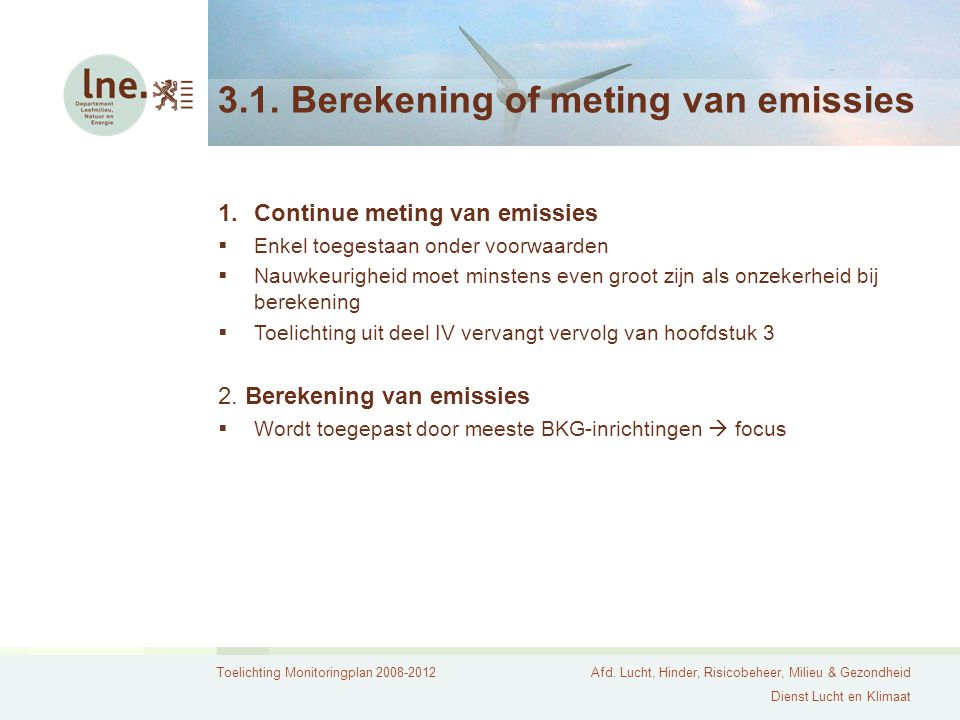 3.1. Berekening of meting van emissies