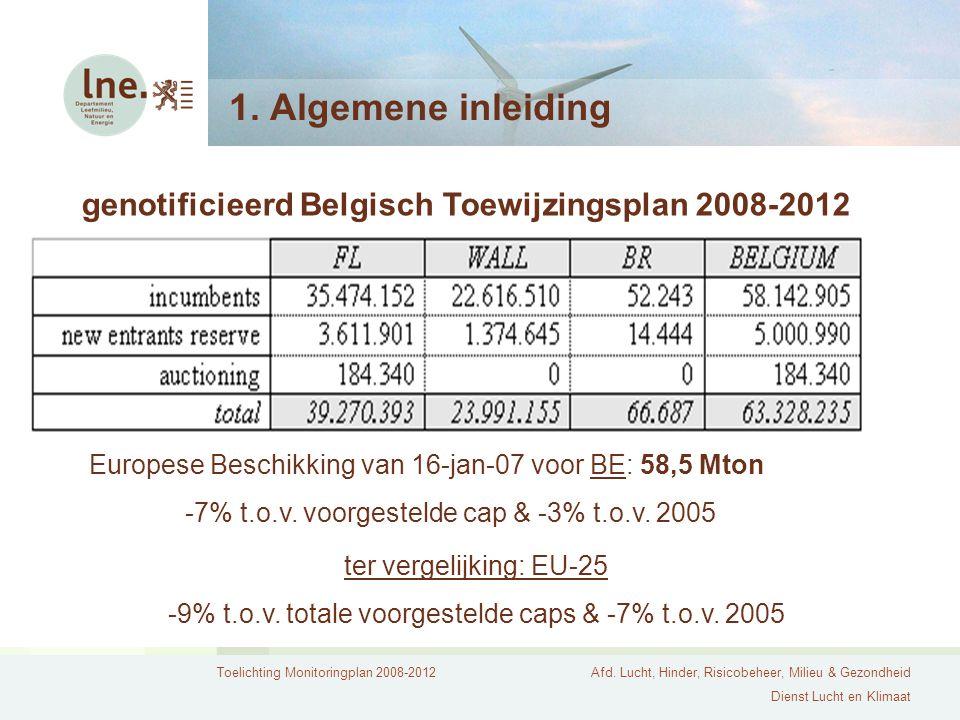 -9% t.o.v. totale voorgestelde caps & -7% t.o.v. 2005