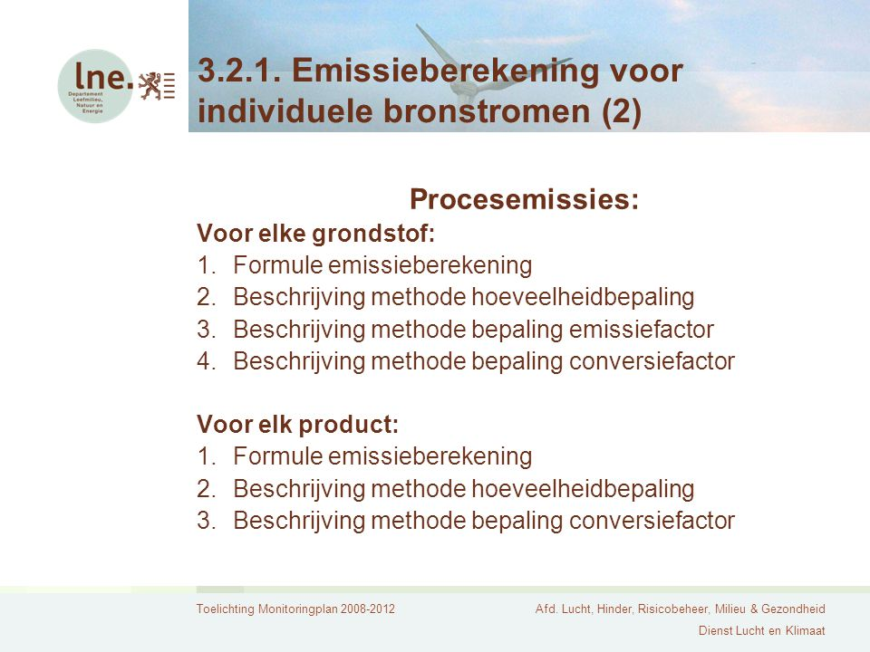 3.2.1. Emissieberekening voor individuele bronstromen (2)