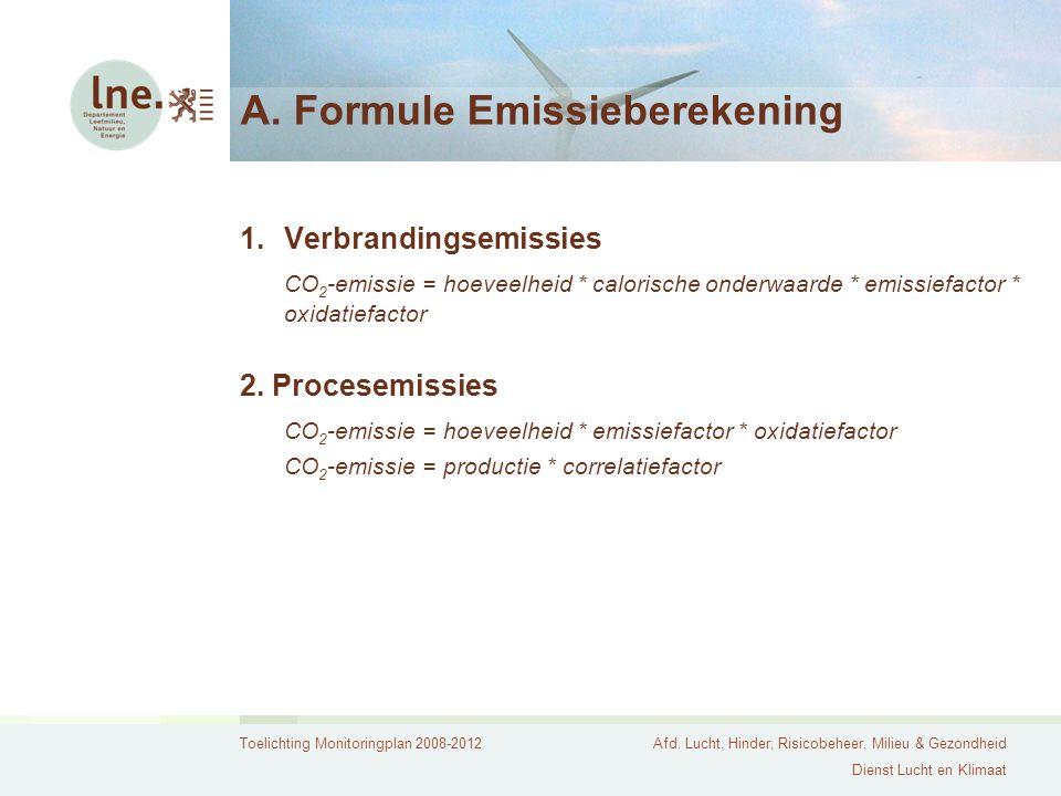 A. Formule Emissieberekening