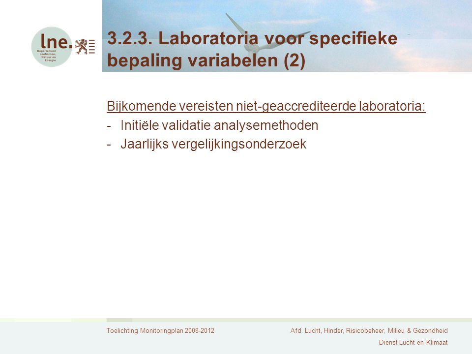 3.2.3. Laboratoria voor specifieke bepaling variabelen (2)