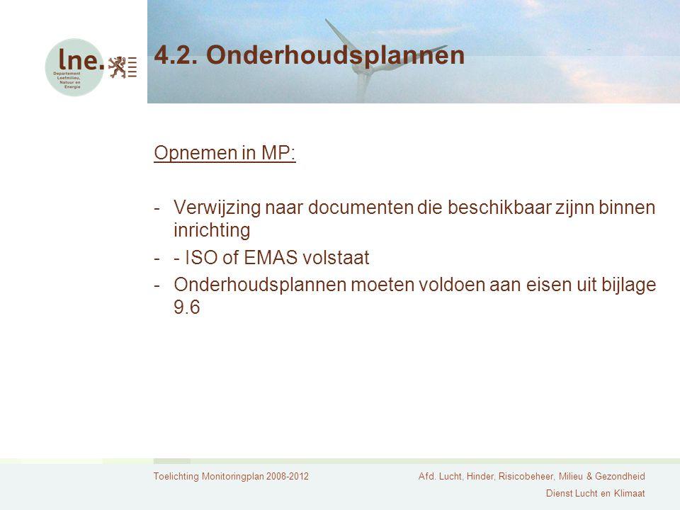 4.2. Onderhoudsplannen Opnemen in MP:
