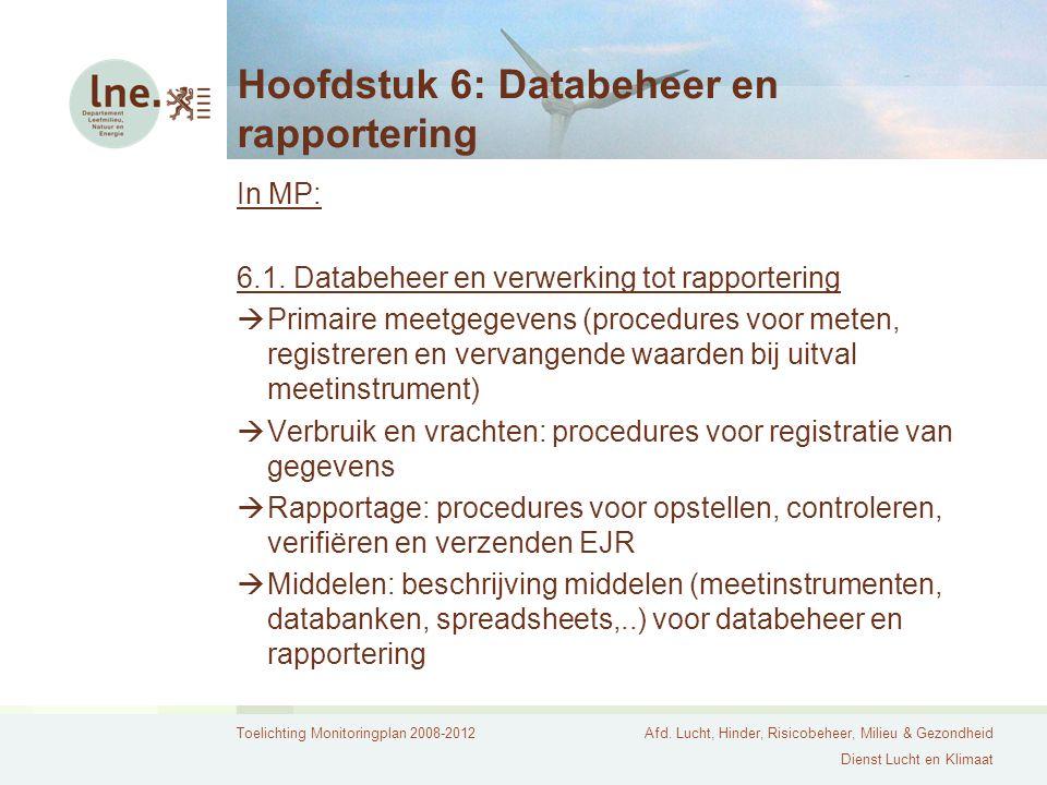 Hoofdstuk 6: Databeheer en rapportering