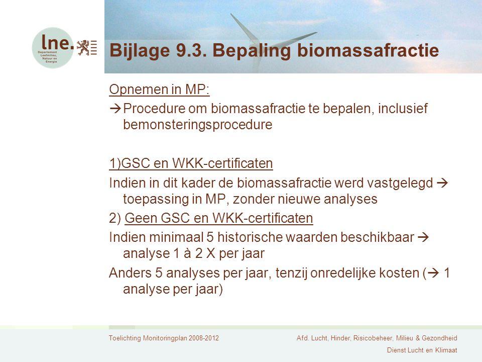 Bijlage 9.3. Bepaling biomassafractie