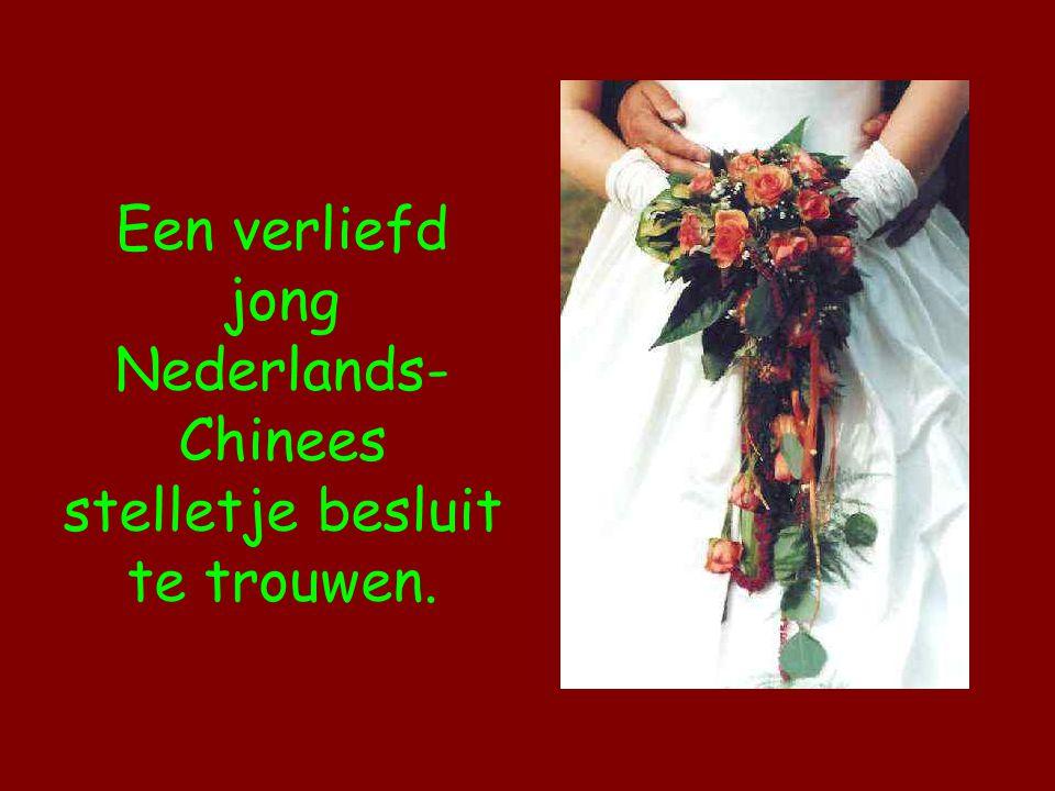 Een verliefd jong Nederlands-Chinees stelletje besluit te trouwen.
