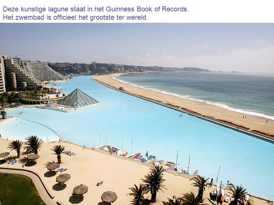 Deze kunstige lagune staat in het Guinness Book of Records.