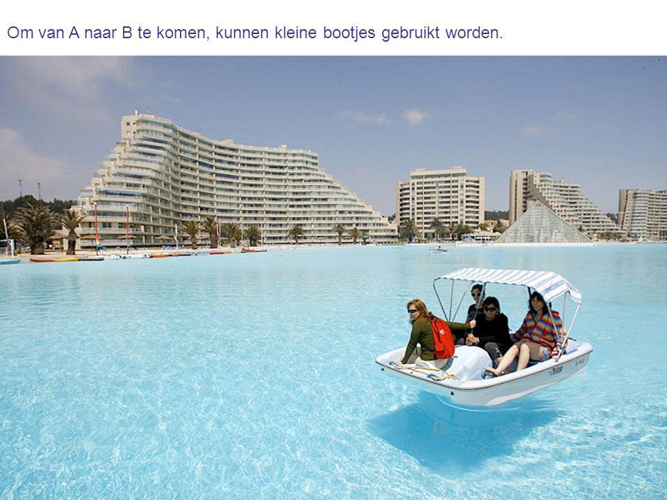 Om van A naar B te komen, kunnen kleine bootjes gebruikt worden.