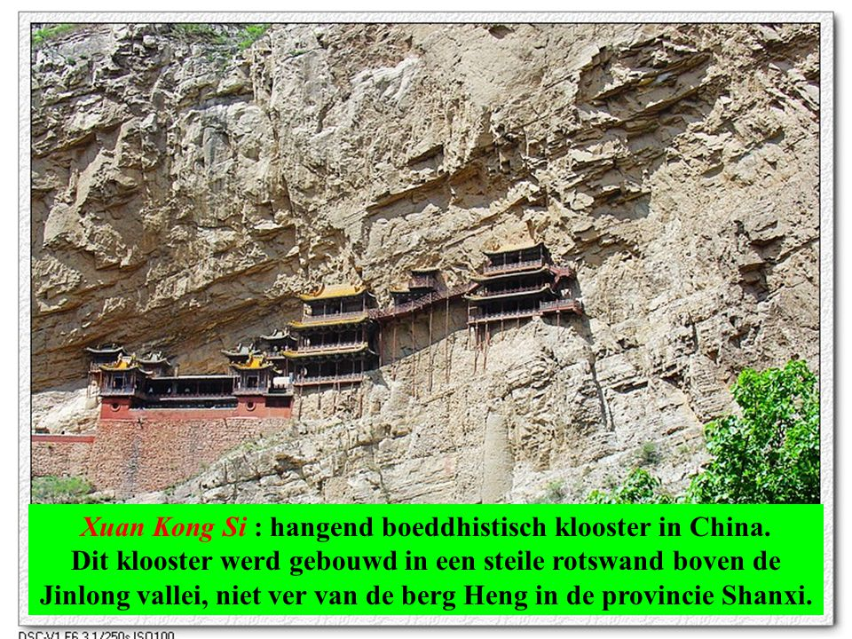 Xuan Kong Si : hangend boeddhistisch klooster in China