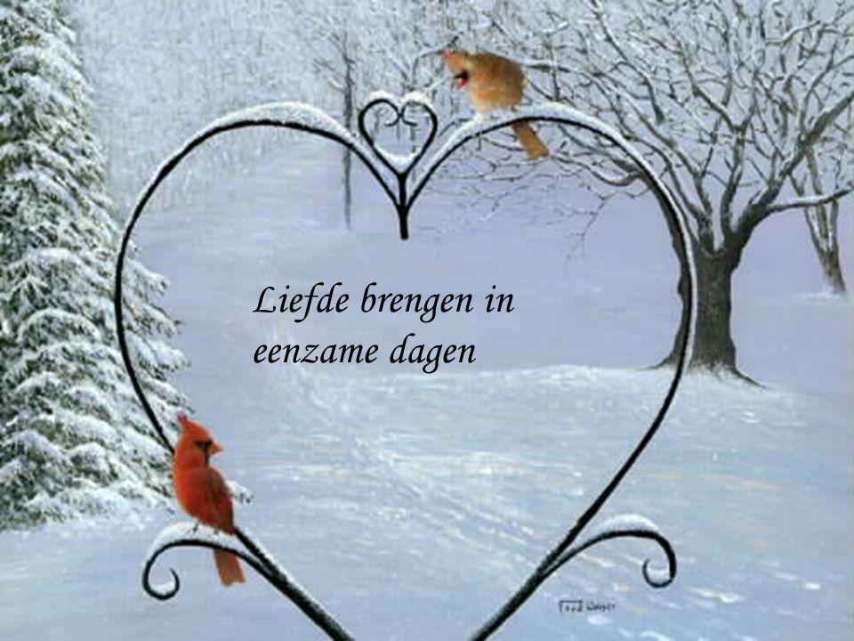 Liefde brengen in eenzame dagen