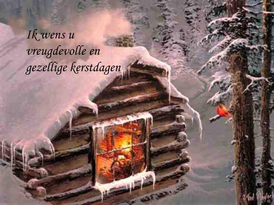 Ik wens u vreugdevolle en gezellige kerstdagen
