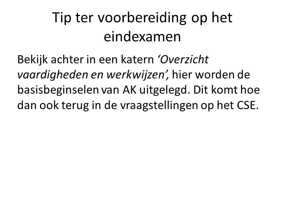Tip ter voorbereiding op het eindexamen