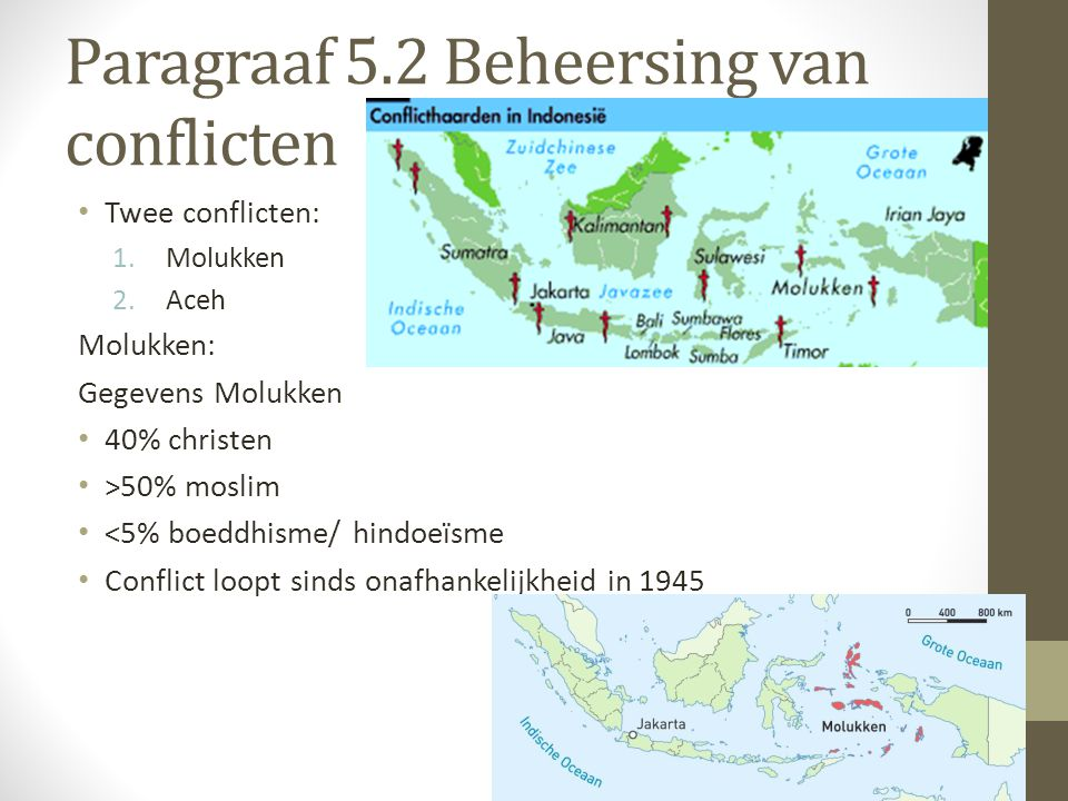 Paragraaf 5.2 Beheersing van conflicten