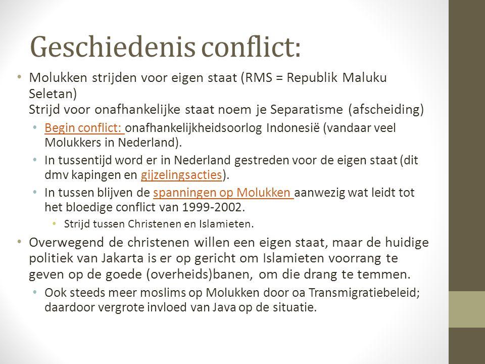 Geschiedenis conflict: