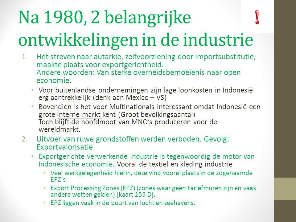 Na 1980, 2 belangrijke ontwikkelingen in de industrie