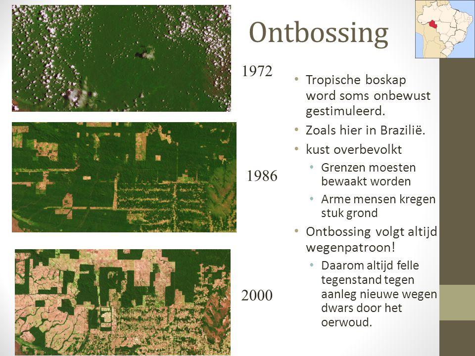 Ontbossing 1972. Tropische boskap word soms onbewust gestimuleerd. Zoals hier in Brazilië. kust overbevolkt.