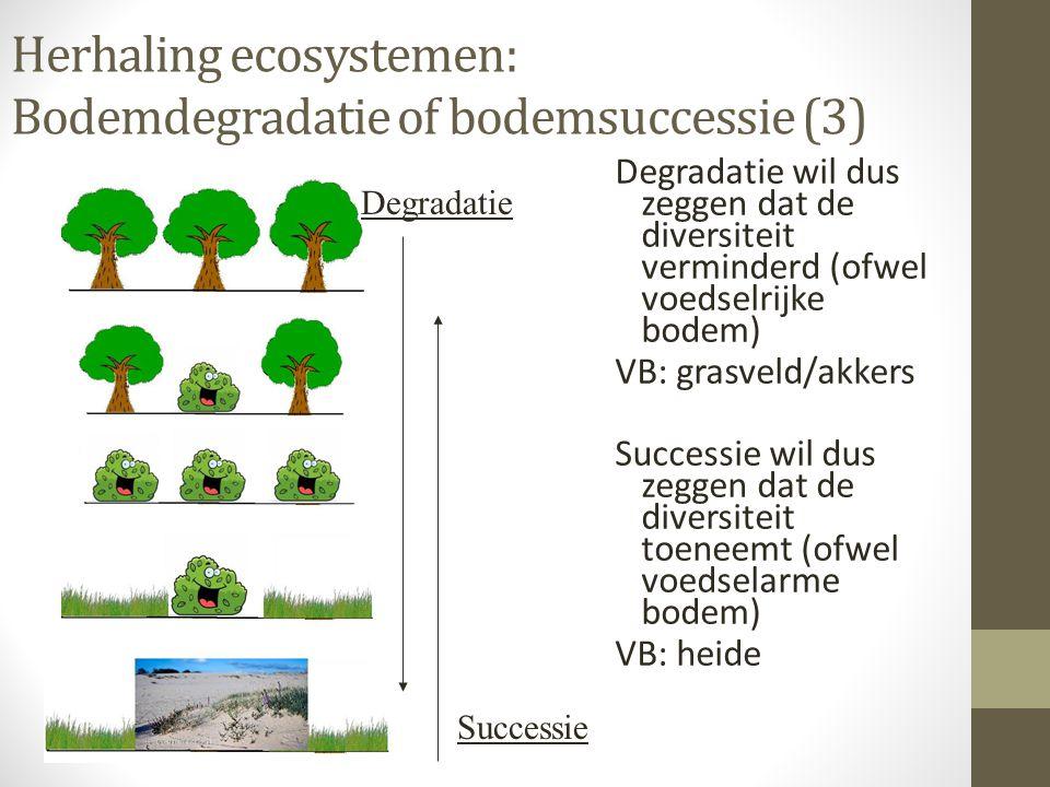 Herhaling ecosystemen: Bodemdegradatie of bodemsuccessie (3)
