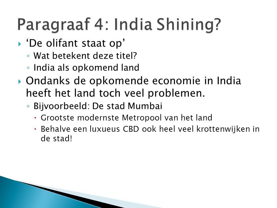 Paragraaf 4: India Shining