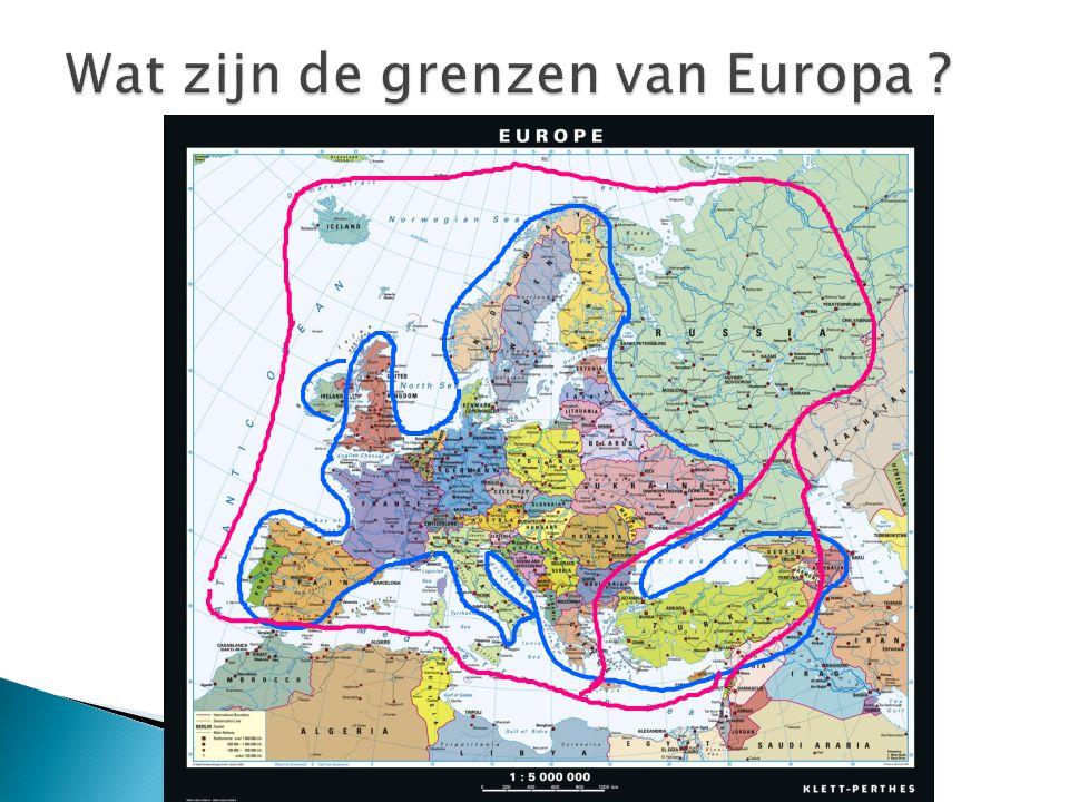 Wat zijn de grenzen van Europa