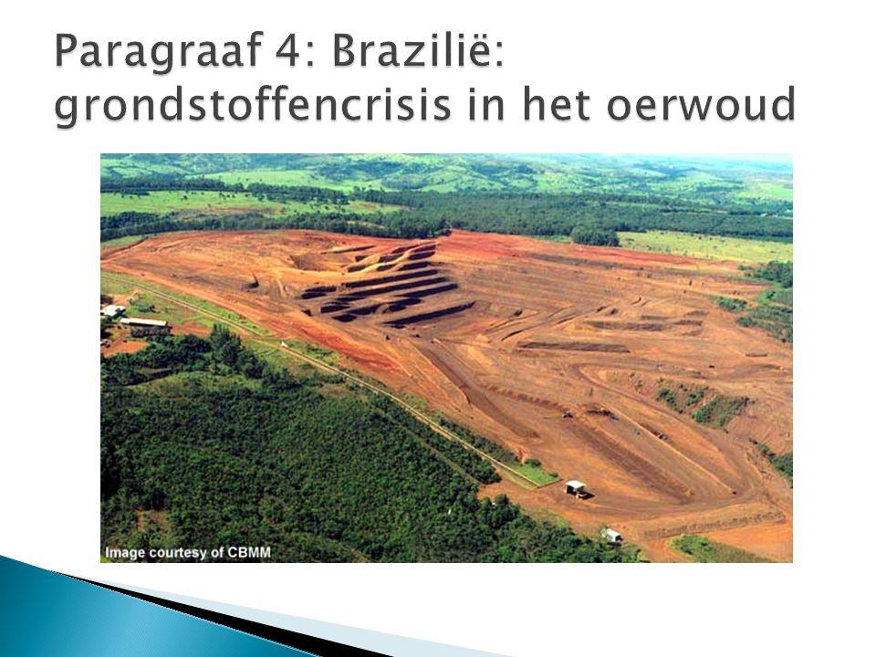Paragraaf 4: Brazilië: grondstoffencrisis in het oerwoud