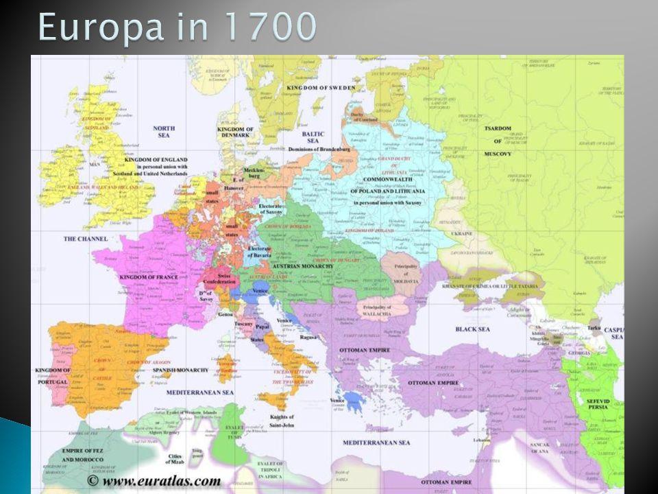 Europa in 1700