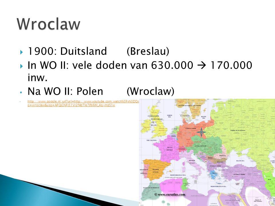 Wroclaw 1900: Duitsland (Breslau)