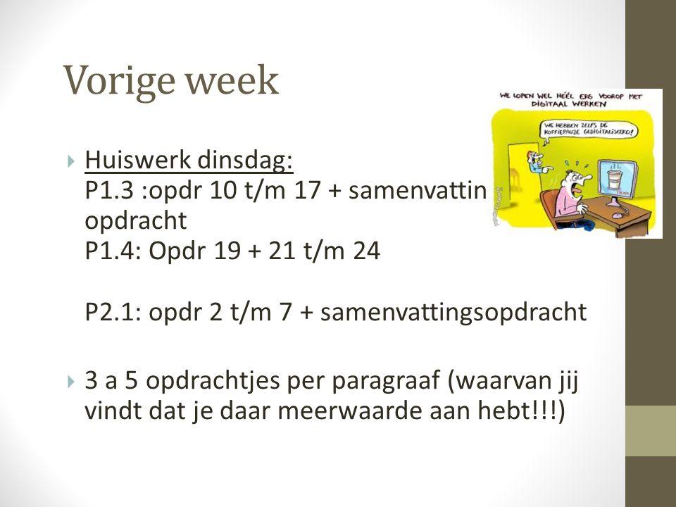 Vorige week