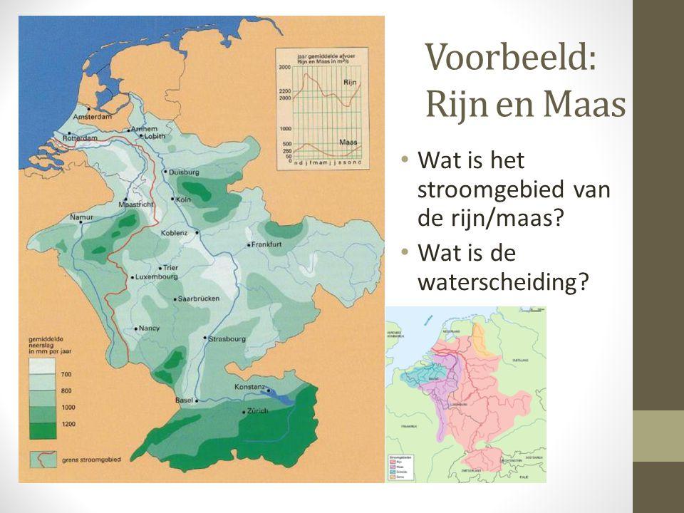 Voorbeeld: Rijn en Maas