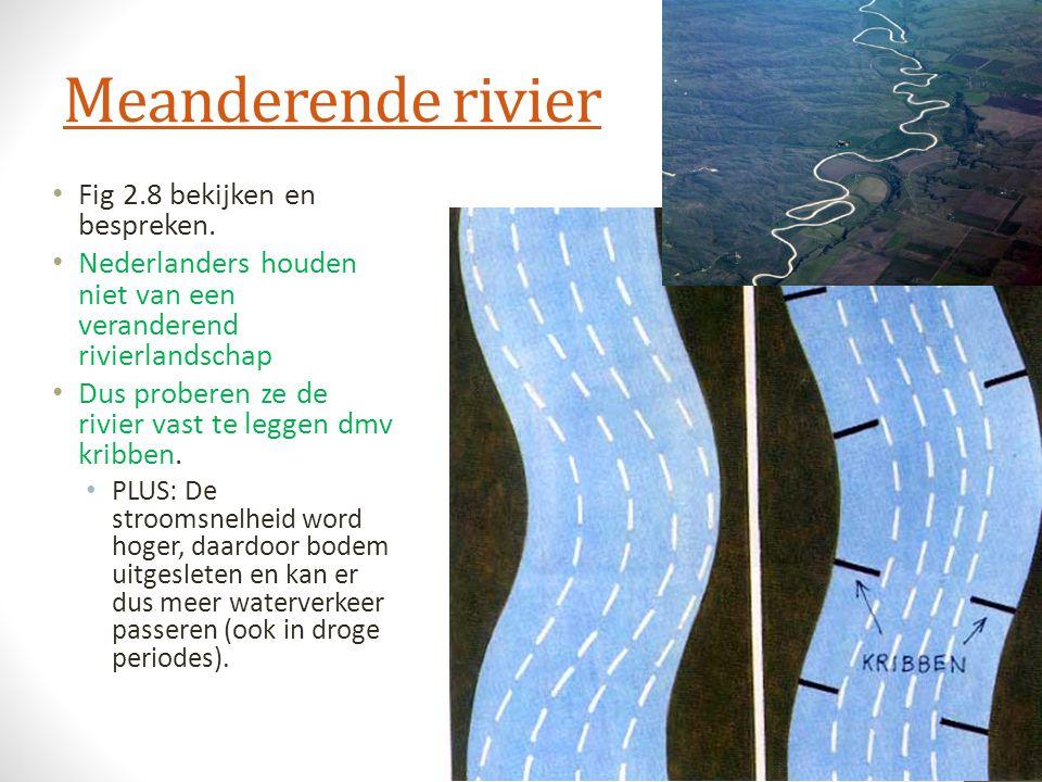 Meanderende rivier Fig 2.8 bekijken en bespreken.