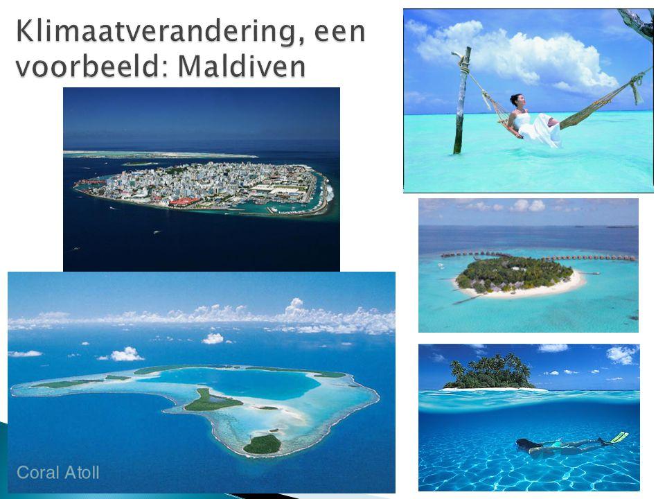 Klimaatverandering, een voorbeeld: Maldiven