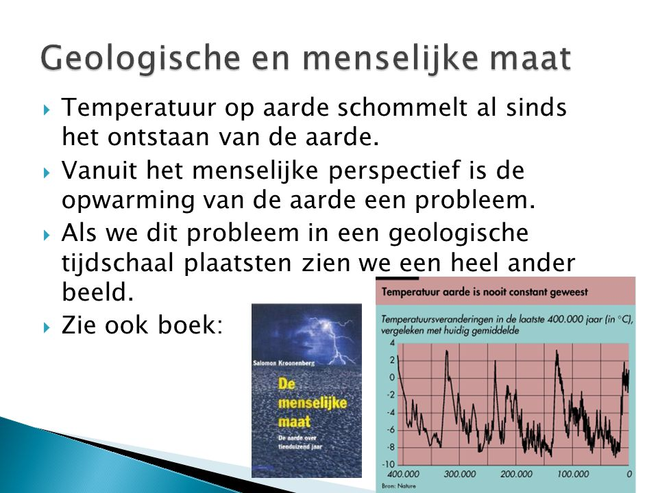 Geologische en menselijke maat