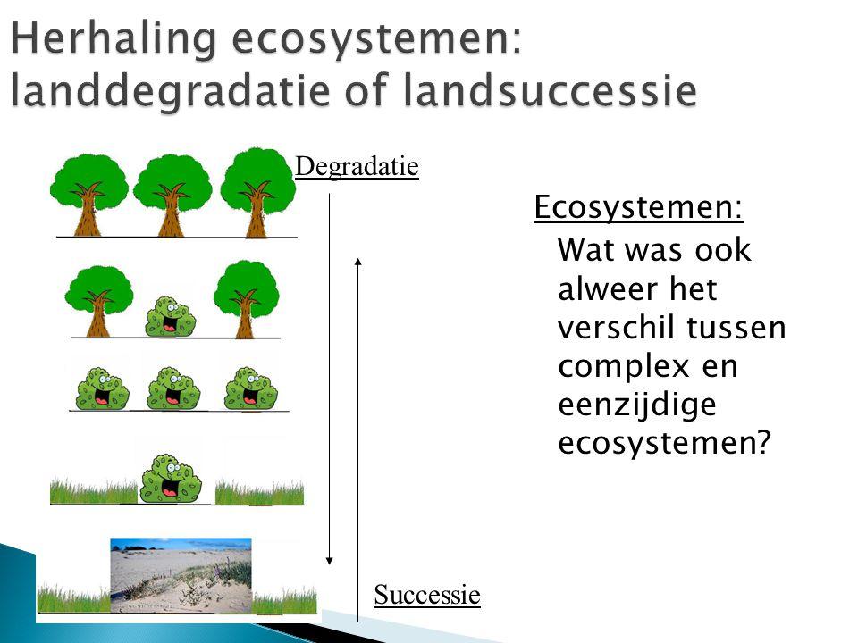 Herhaling ecosystemen: landdegradatie of landsuccessie