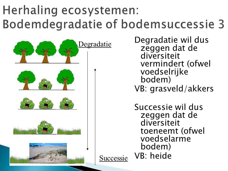 Herhaling ecosystemen: Bodemdegradatie of bodemsuccessie 3