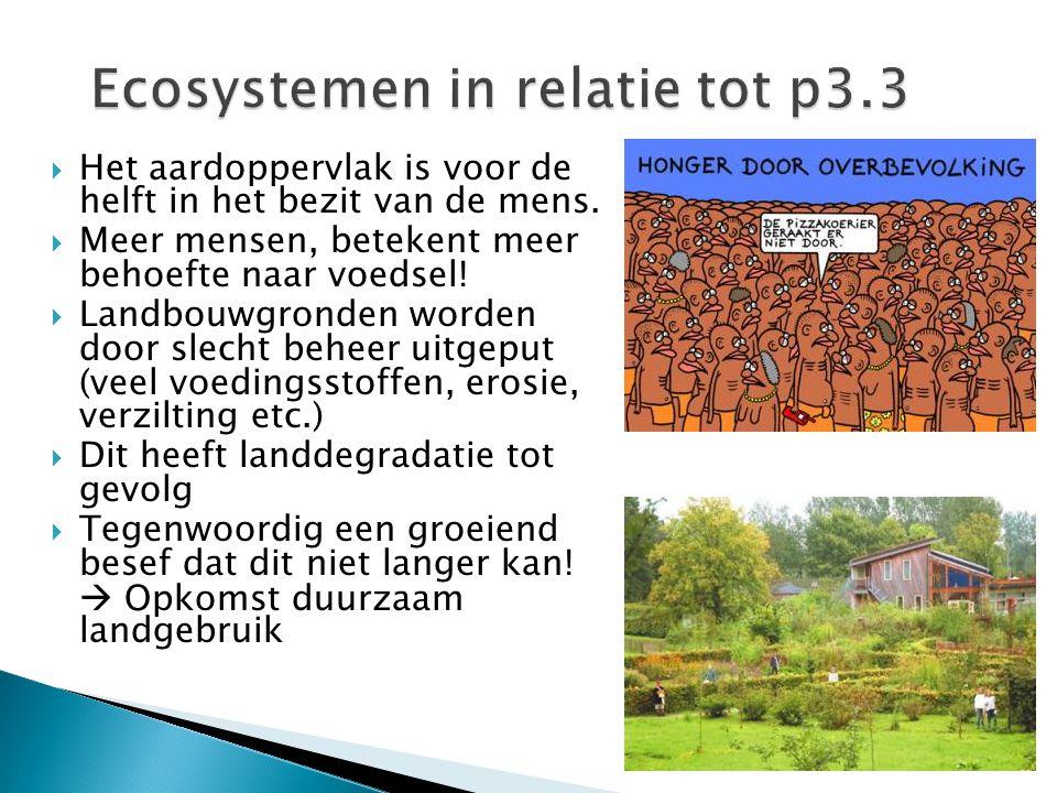 Ecosystemen in relatie tot p3.3