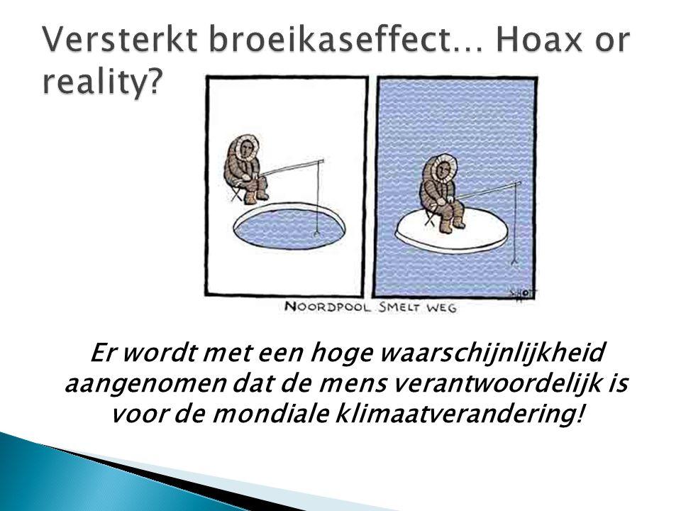 Versterkt broeikaseffect… Hoax or reality