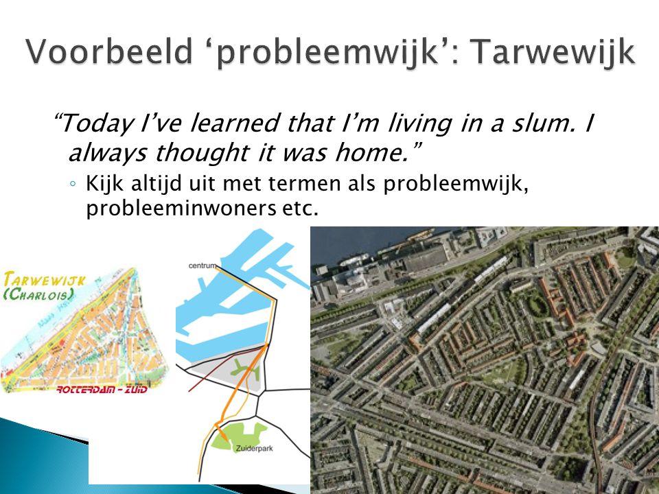 Voorbeeld 'probleemwijk': Tarwewijk