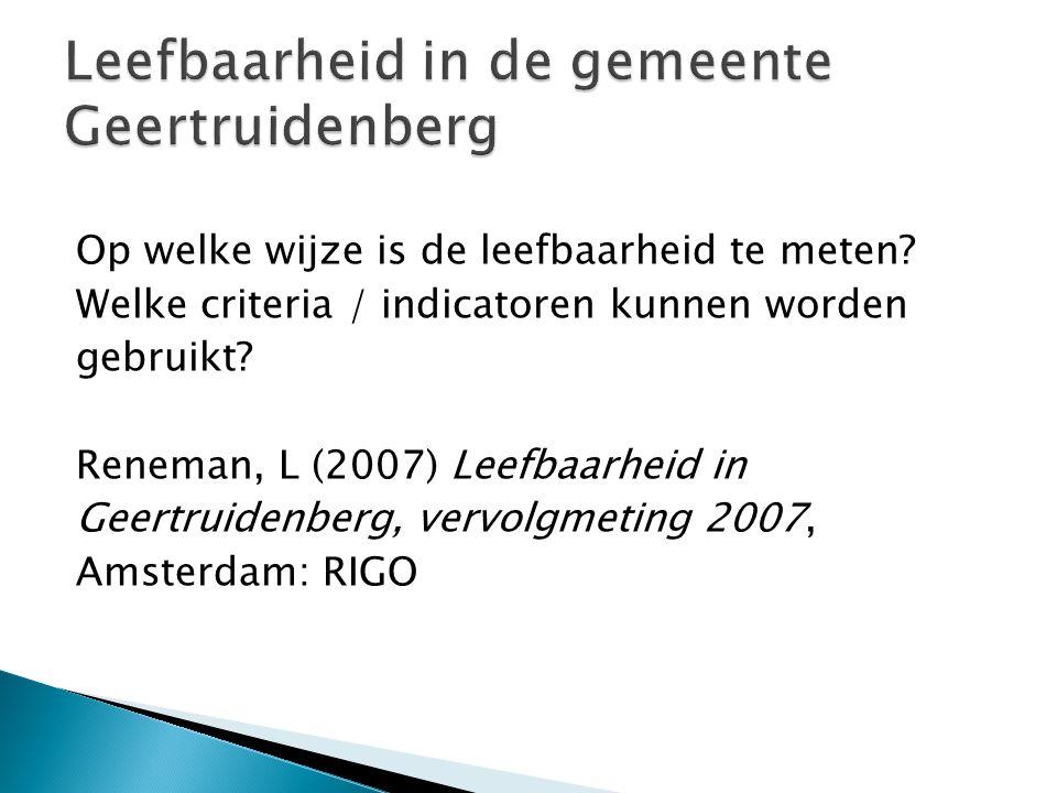 Leefbaarheid in de gemeente Geertruidenberg