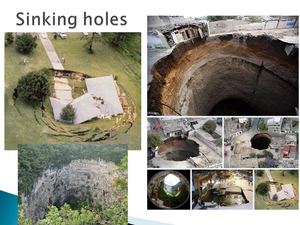 Sinking holes