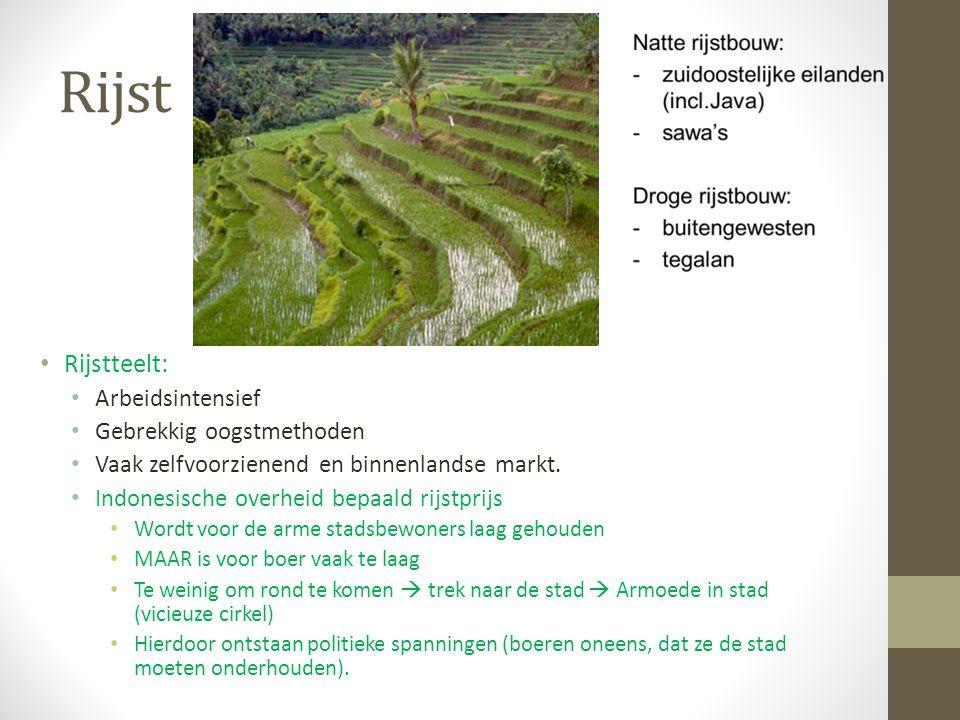 Rijst Rijstteelt: Arbeidsintensief Gebrekkig oogstmethoden