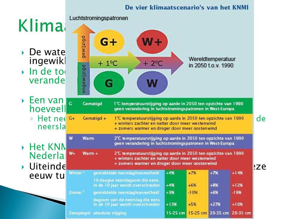 Klimaatverandering De waterhuishouding van Nederland is erg ingewikkeld.