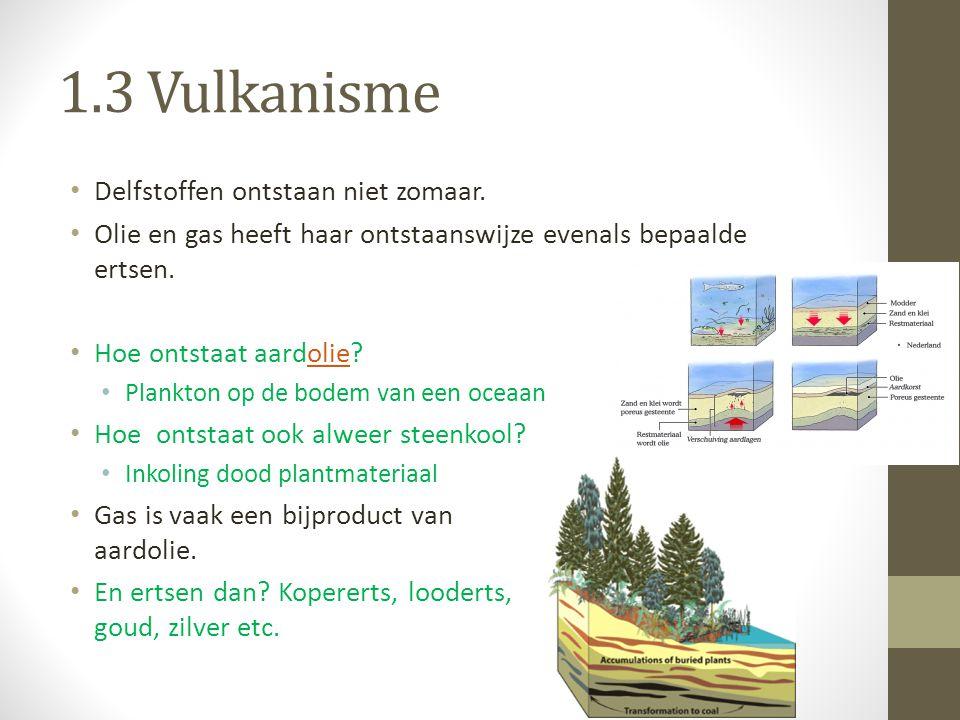 1.3 Vulkanisme Delfstoffen ontstaan niet zomaar.