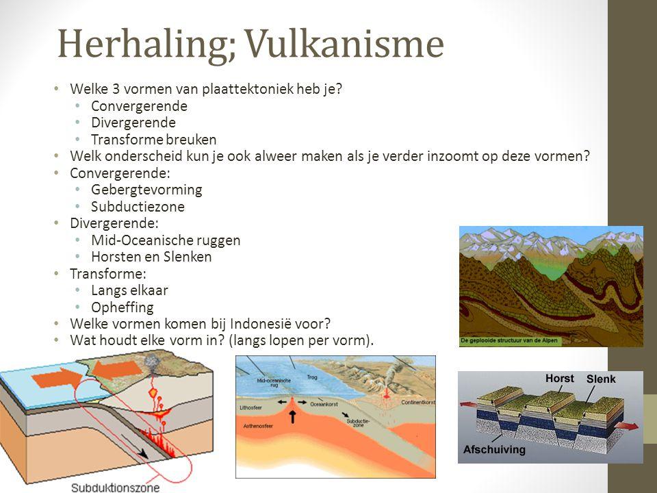 Herhaling; Vulkanisme