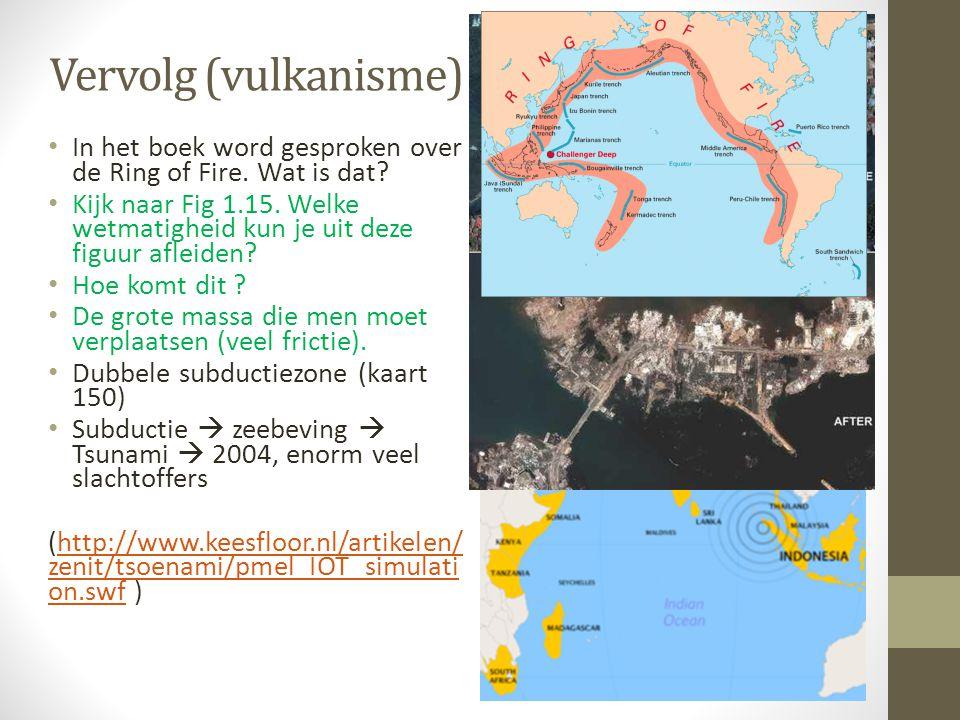 Vervolg (vulkanisme) In het boek word gesproken over de Ring of Fire. Wat is dat