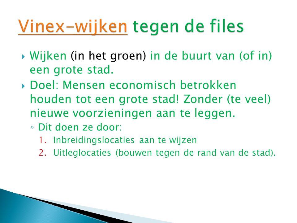 Vinex-wijken tegen de files